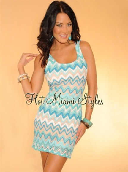 dress ivory dress chevron lace dress turquoise sexy