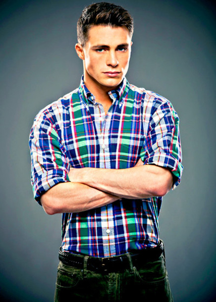 shirt colton haynes celebrity fashion colorful