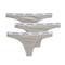 Calvin klein underwear carousel 3 pack thong - grey heather