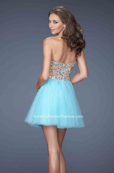 prom dress sweetheart tulle homecoming dress tulle dress women blues sleeveless rhinestone sky cocktail dress sky blue sky blue dress cut-out dress peach fast shipping dress tulle homecoming tulle homecoming dress