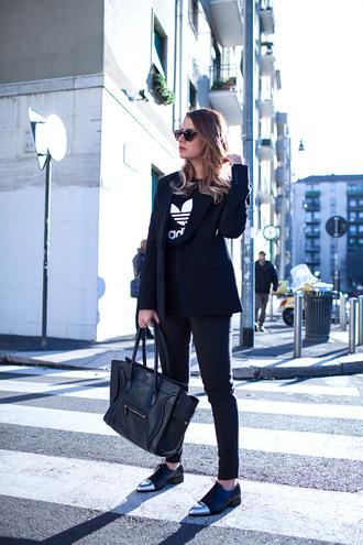the fashion fruit blogger pants shoes bag blazer adidas pointed toe