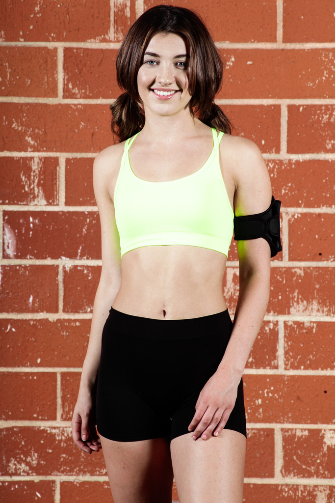 Padded Strappy Sports Bra Top with Removable Padding | Obsezz