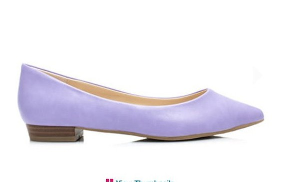 shoes flats purple back to school