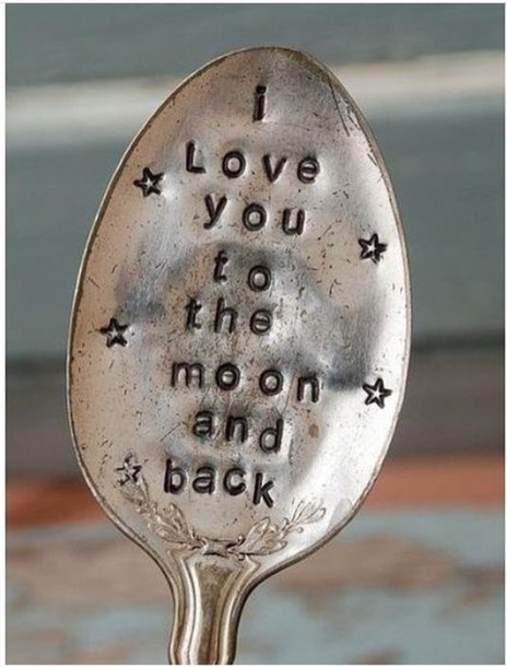 home accessory spoon silver texture