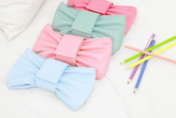 bag kawaii style pastel pencil case
