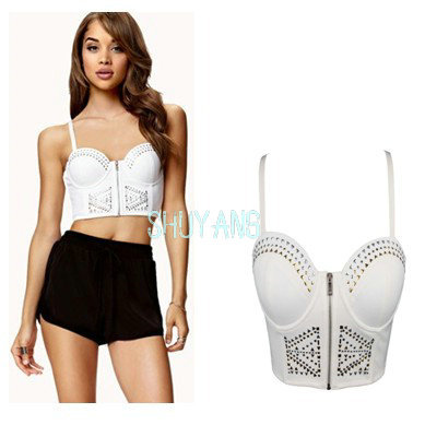 Free Shipping New 2014 High Street Women Harajuku Crop Tops Spaghetti Strap Bra Bustier Corsets Vest Camisole Tank Top LW533-in Camis from Apparel & Accessories on Aliexpress.com