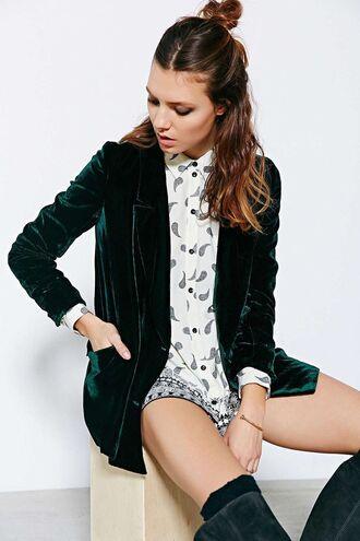 jacket velvet velvet jacket winter jacket emerald green green jacket mango