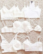 underwear,vintage,grunge,boho,boho chic,indie,hippie,style,fashion,outfit,bra,bralette,white,forever 21,top,white crop tops,blouse,shirt