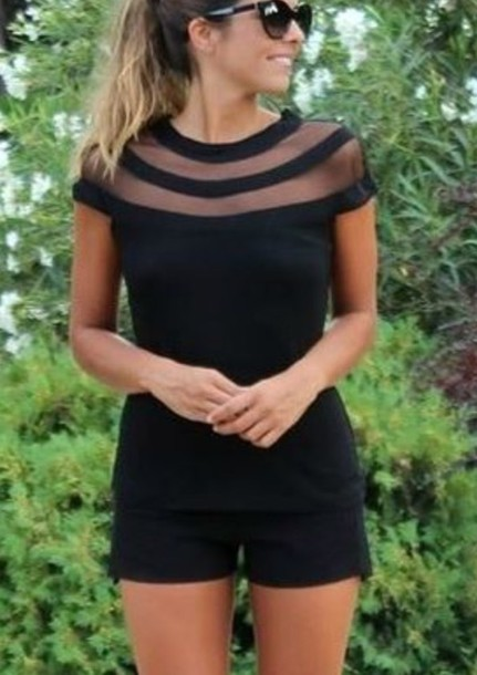 dress romper black dress