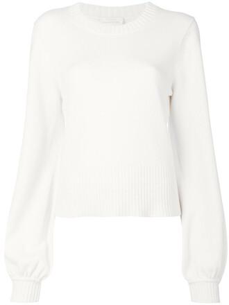 sweater bell sleeve sweater women white
