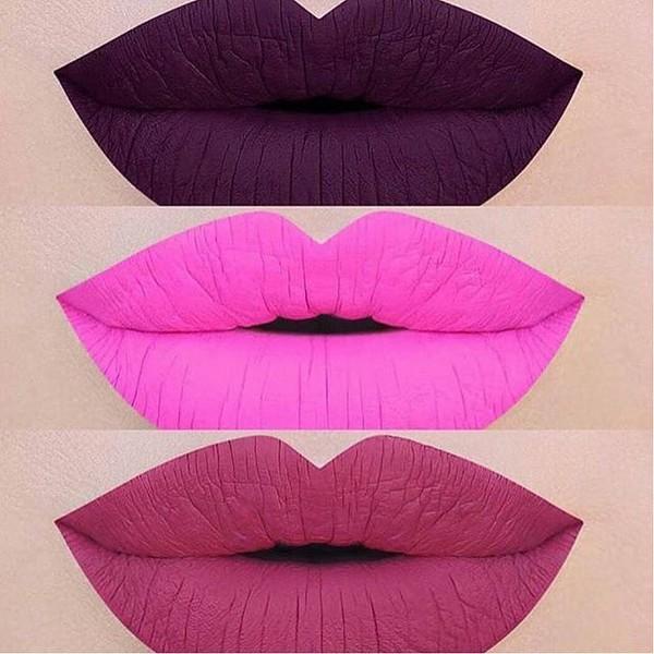 Make-up: pink matte lipstick, matte lipstick, purple, pink ...