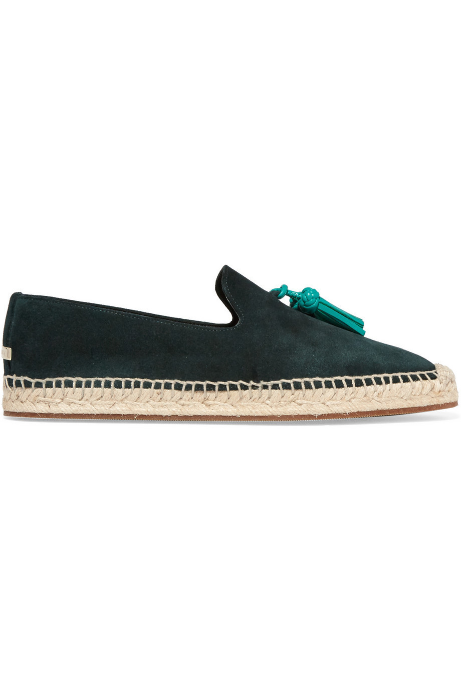 reputable site 0b368 04246 Burberry London London Tasseled Leather and Suede Espadrilles in green
