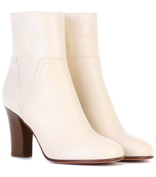 Valentino leather ankle boots ankle boots leather white shoes