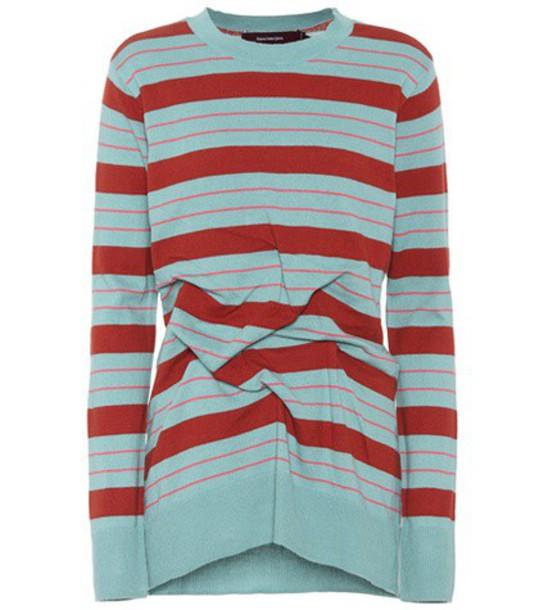 Sies Marjan Coralie striped cotton sweater in blue