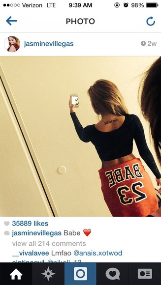 cute jacket black and red jasmine villegas bae 23 where to get it ?