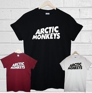 Arctic monkeys t shirt indie rock burgundy white black mens womens top