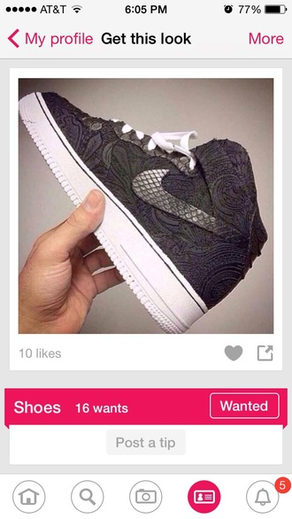 shoes air force ones scales nike shoes forest dark girls sneakers dark grey leaves white sneakers