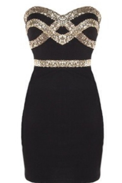 dress black and gold gold sequins black dress short dress