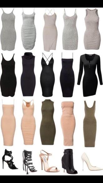 dress gray black beige olive dressess