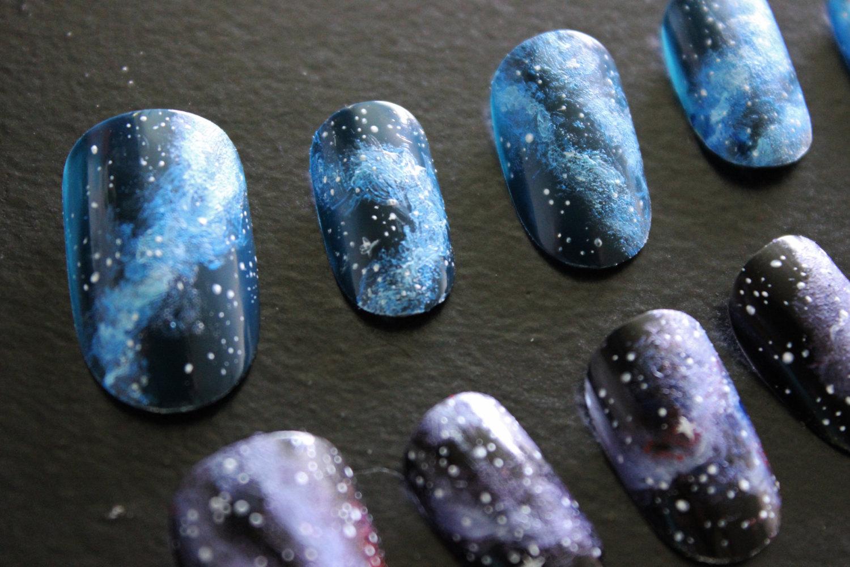 nail polish, galaxy print, galaxy nail, vernis, chanel, nails, nail ...