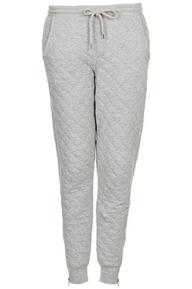 Soft Grey Quilted Joggers  ($64.00) - Svpply