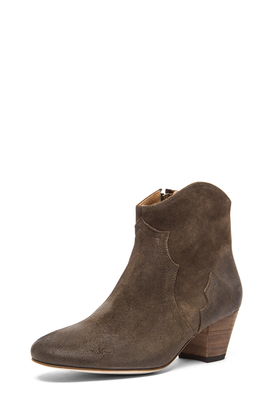 Isabel Marant|Dicker Velvet Boot in Bronze