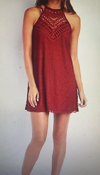 dress red dress crochet dress