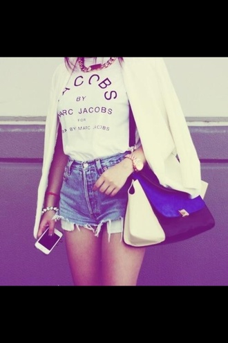t-shirt marc by marc jacobs jacket bag
