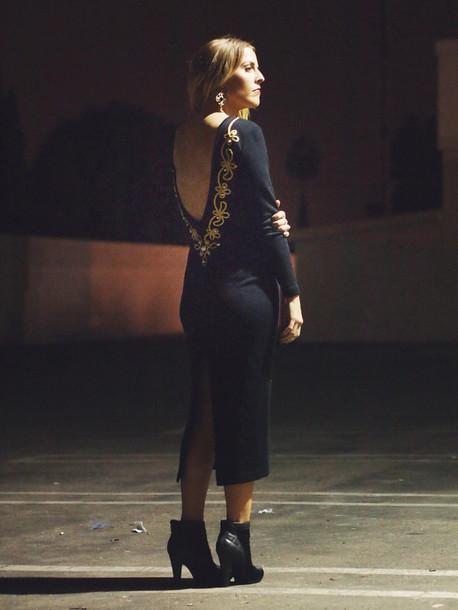 b. jones style blogger backless dress