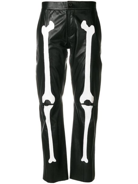 YANG LI women print black pants