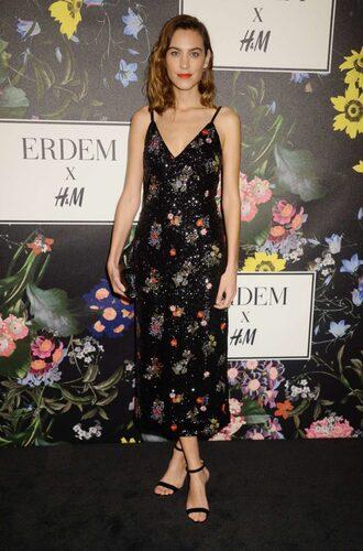 dress midi dress alexa chung sandals floral floral dress