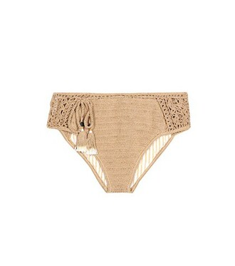bikini crochet bikini bikini bottoms crochet brown swimwear