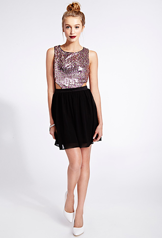 Glamorous Sequined Combo Dress | FOREVER21 - 2000072765
