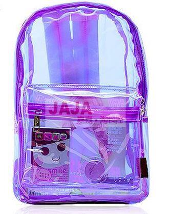 bag purple fashion style plastic kawaii trendy fall bag cool lilac transparent  bag back to school it girl shop