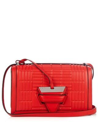 quilted bag shoulder bag red