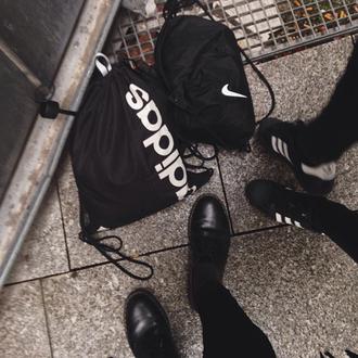 shoes adidas nike bag black superstar soft bucket bag
