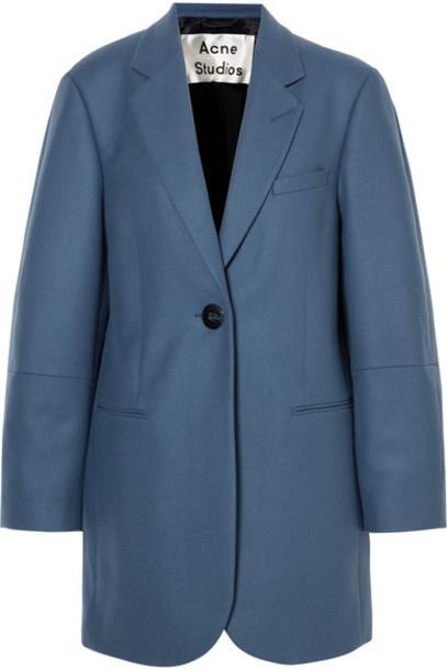 Acne Studios coat oversized blue wool