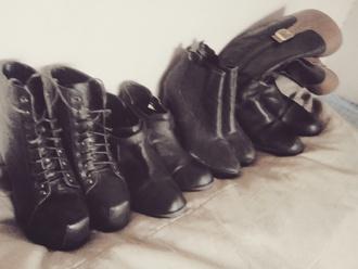 shoes black grunge leather boots boots combat got dark nu goth