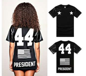 Aliexpress.com : buy new arrive fashion black boy 44 flag leather digital t shirt mens short sleeve round neck tee pu sleeve tshirts from reliable t
