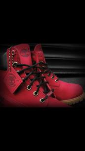shoes,ruby red,villa,jtm,6inchboot,timberlands,villa89