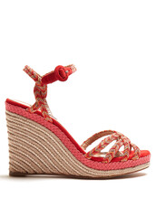 braided,100,sandals,wedge sandals,red,shoes