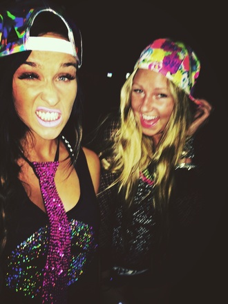 hat floral tank top bohemian snapback retro hippie holographic style summer dress fashion