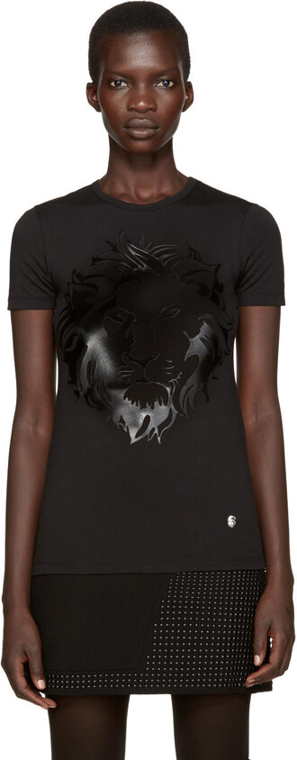 t-shirt shirt lion black top