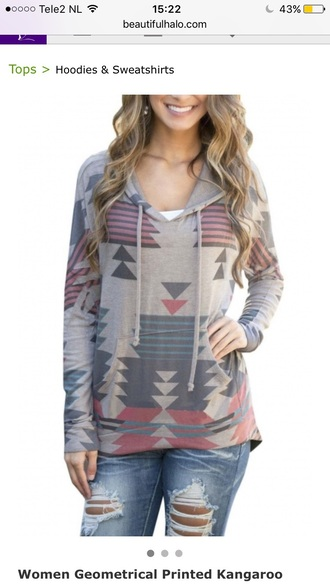 sweater hoodie fashion style warm fall outfits trendy long sleeves grey cool teenagers beautifulhalo casual girl girly girly wishlist tribal pattern cute fall sweater