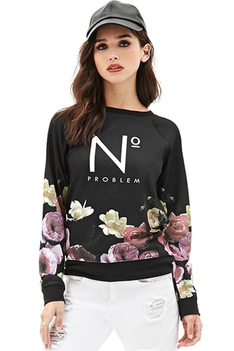 sweater floral black cute fall outfits fall sweater streetwear streetstyle dope swag style chanel zaful urban cap roses casual long sleeves