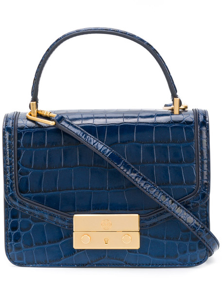 Tory Burch satchel women leather blue bag