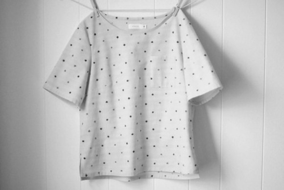 shirt dots cute black white