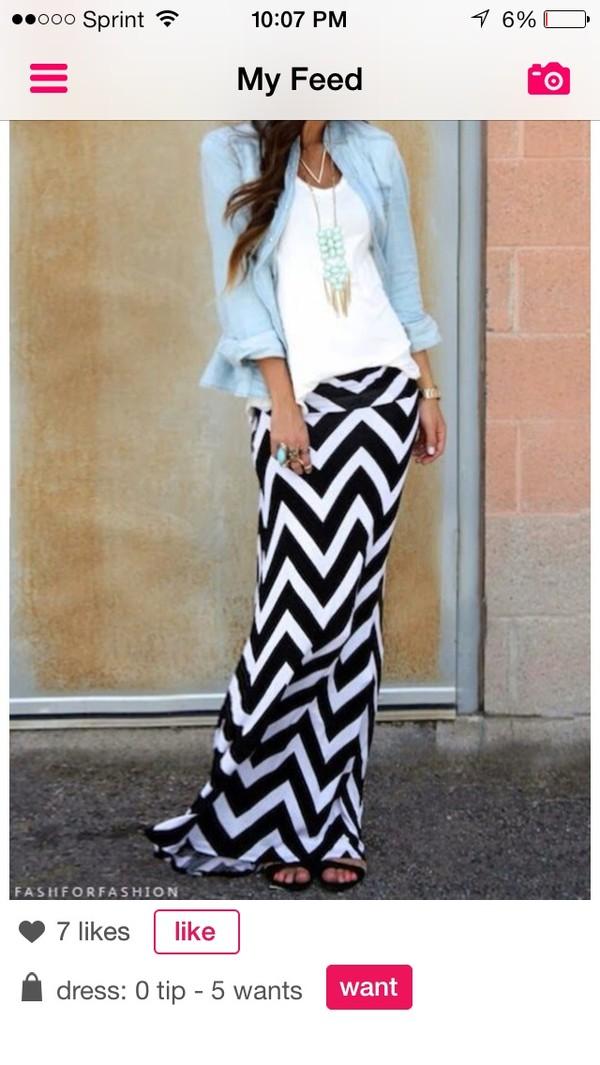 skirt chevron striped skirt