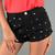 Black Floral High Waist Shorts | Belle La Vie