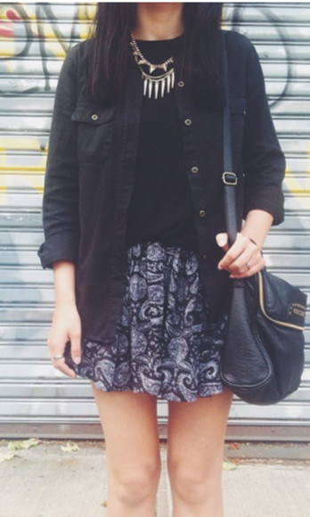 vans jewels girl style t-shirt floral skirt vans girls purse bag